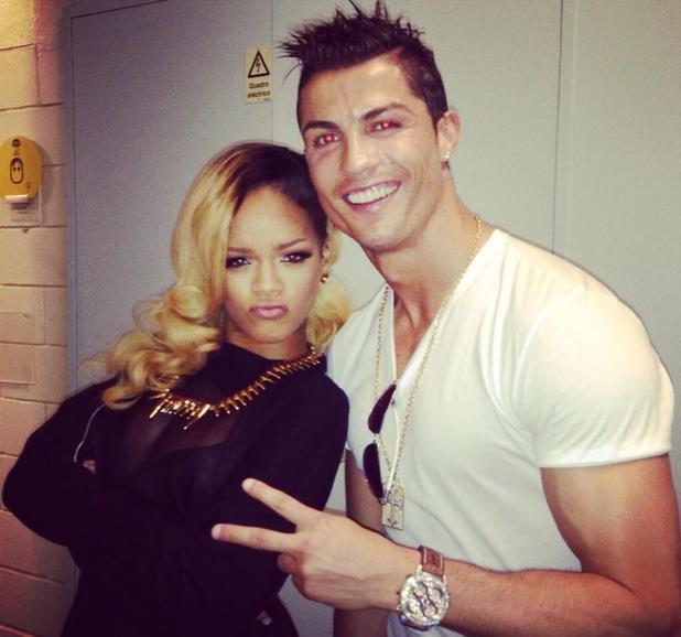 Cristiano Ronaldo meets Rihanna after a concert