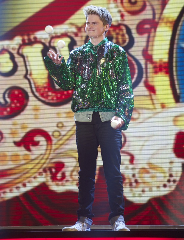 Thomas Bounce performs on the 3rd 'Britain's Got Talent' Semi Final Show