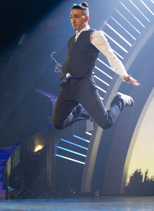 Poppin' Ron performs on the 4th semi-final of Britain's Got Talent