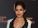 "Freida Pinto says she would like to be identified as a ""strong global woman""."
