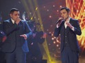 The opera brothers and young singer triumph on the first live show.
