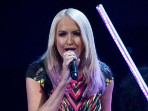 Leanne Jarvis performs on the first live show of The Voice