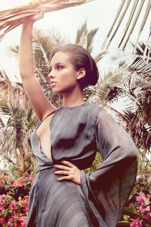 Alicia Keys photoshoot for Marie Claire