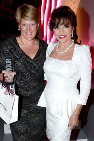 Glamour Women of the Year Awards 2013: Clare Balding (Presenter) with Joan Collins