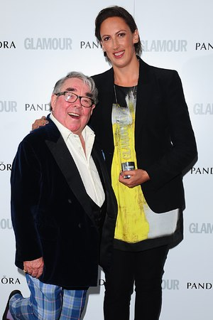 Glamour Women of the Year Awards 2013: Miranda Hart (writer) with Ronnie Corbett