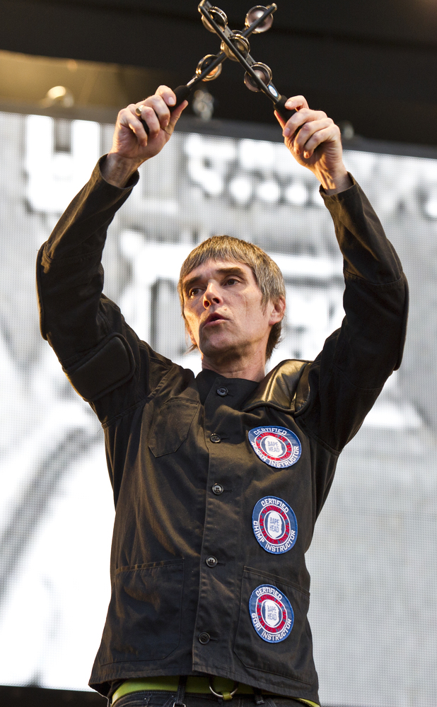Ian Brown and The Stone Roses perform live at  Finsbury Park.