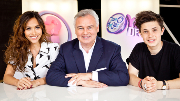 Judges Myleene Klass, Eamonn Holmes and Ceallach Spellman for 'Blue Peter - You Decide!'
