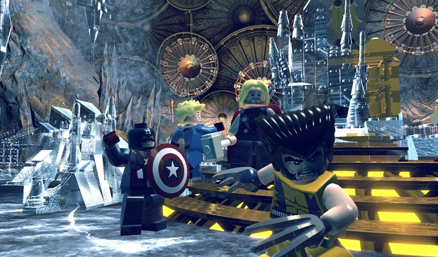 Captain America, The Human Torch, Thor & Wolverine in 'LEGO Marvel Super Heroes'