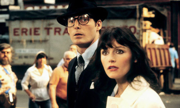 Christopher Reeve and Margot Kidder as Clark and Lois in 'Superman' (1978)
