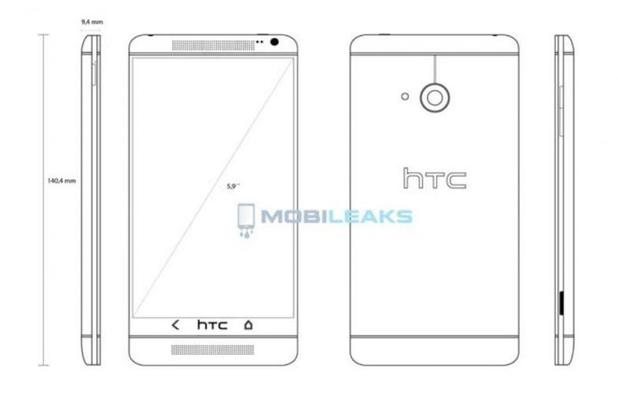 HTC One Max purported blueprint