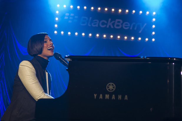 Alicia Keys performing an exclusive gig at the BlackBerry Secret Session,