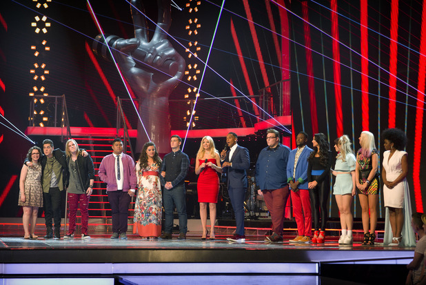 All the performers on the first live show of The Voice
