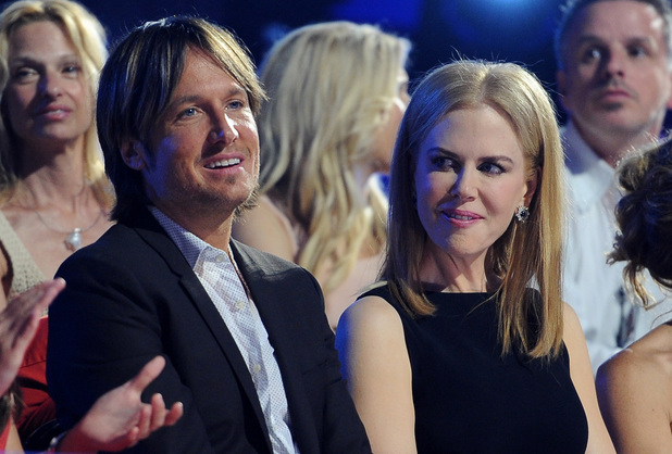 Keith Urban and Nicole Kidman in the audience at the 2013 CMT Music Awards