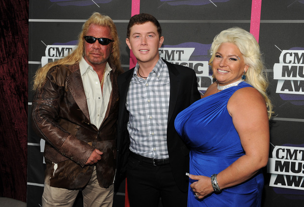 Duane 'Dog' Chapman, Scotty McCreery and Beth Chapman