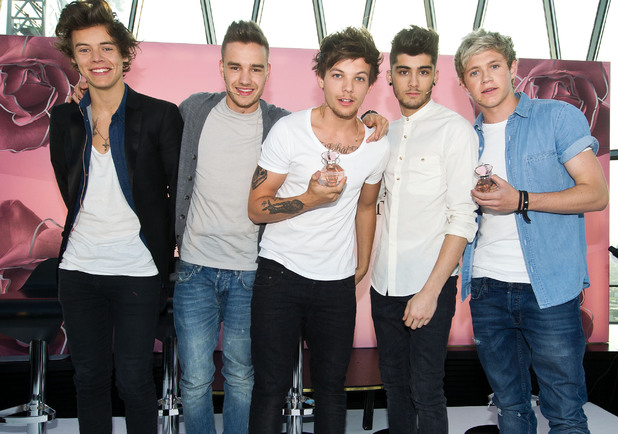 One Direction launch their debut fragrance 'Our Moment' at The Gherkin