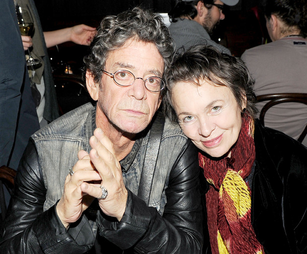 Lou Reed and Laurie Anderson photographed in October 2011