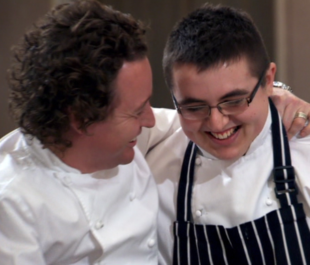 Jamie MacKinnon and his mentor, Michelin starred chef Tom Kitchin