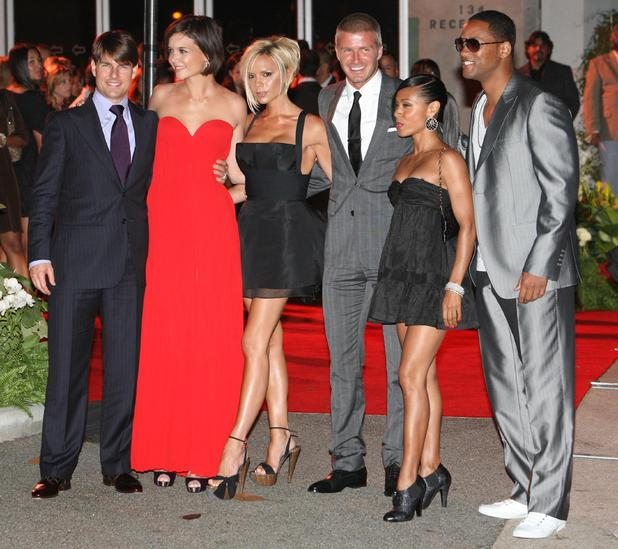 Tom Cruise, Katie Holmes, Victoria Beckham, David Beckham, Jada Pinkett-Smith, Will Smith