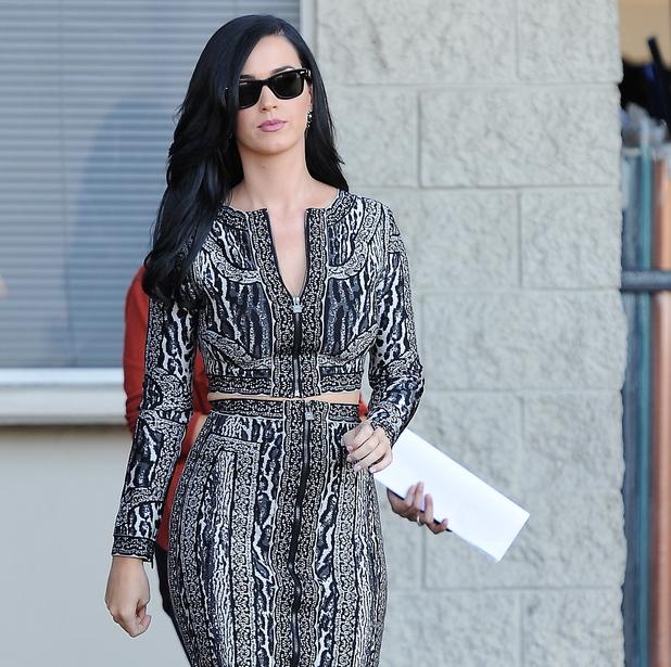 Katy Perry, film set, Kroll Show, LA