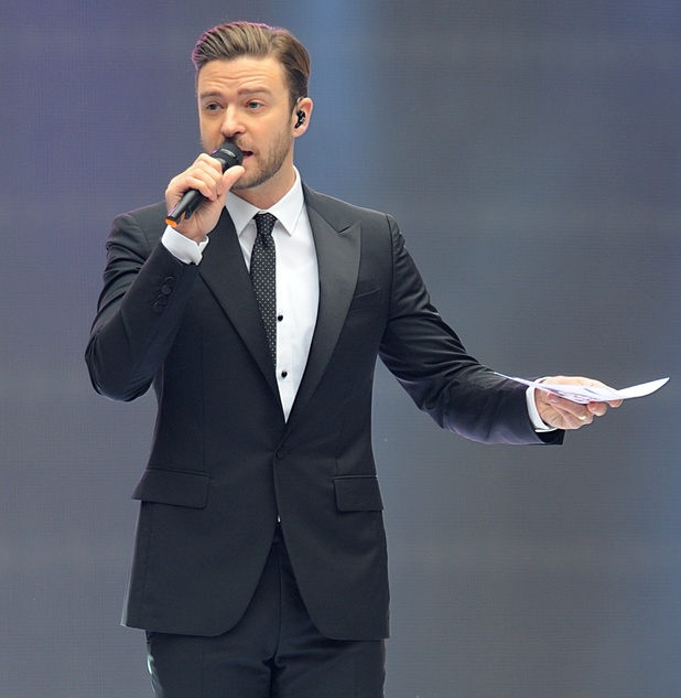 Justin Timberlake at the Capital FM Summertime Ball.