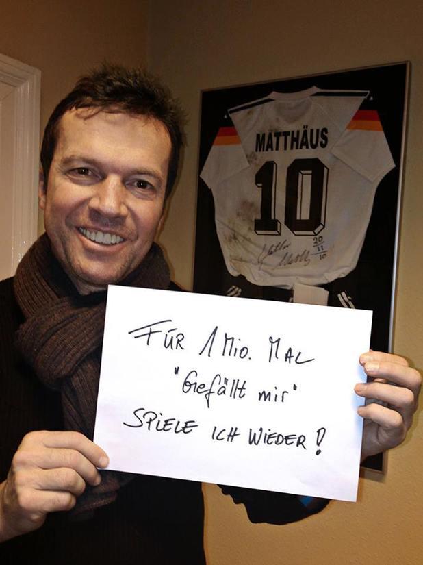 Lothar Matthaus 1m Facebook likes