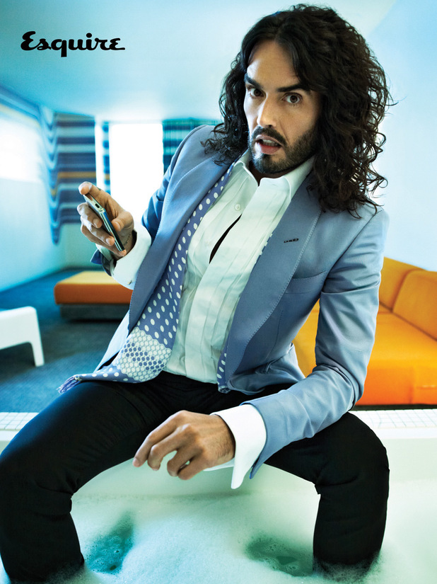 Russell Brand photo shoot for Esquire magazine