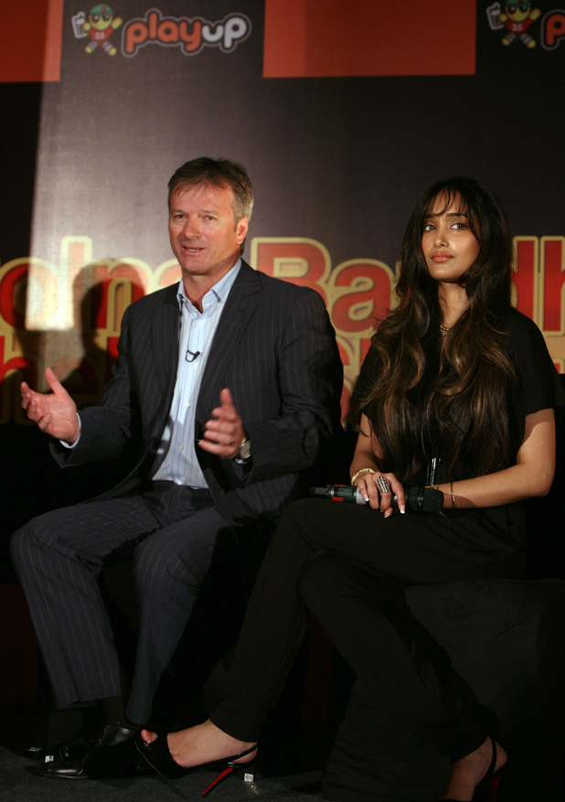 Jiah Khan with Steve Waugh