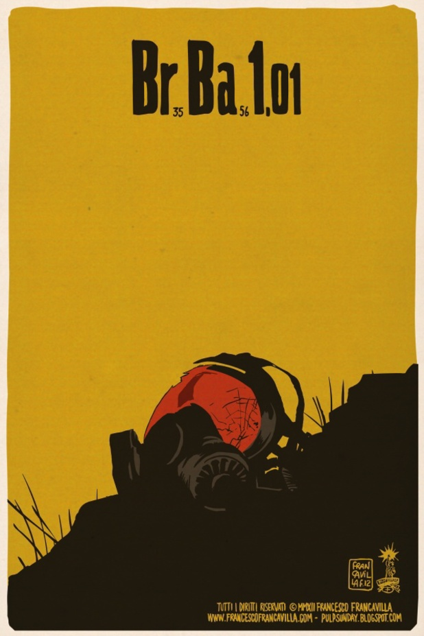 Francesco Francavilla's Breaking Bad posters