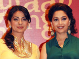 Juhi Chawla (L) and Madhuri Dixit, June 4, 2013