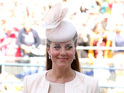 The Duchess of Cambridge looks pretty in peach at Queen's coronation.