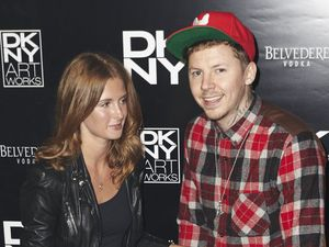 Millie Mackintosh, Professor Green, DKNY Artworks Launch, London, Britain