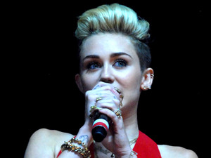 Miley Cyrus performs at the B96 Pepsi Summerbash held at Toyota Park.