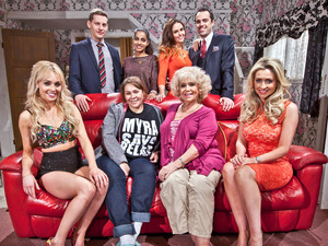 The McQueen family in Hollyoaks