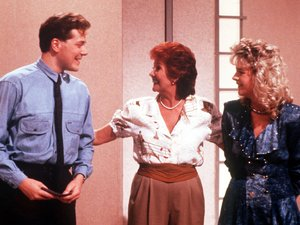 Cilla Black on 'Blind Date' with Alex and Sue Tatham in 1988