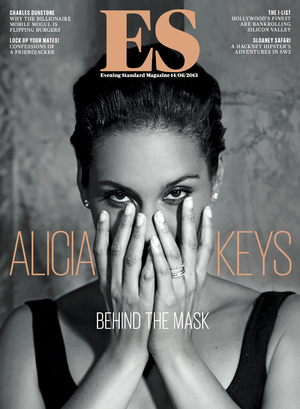 Alicia Keys ES Magazine cover.