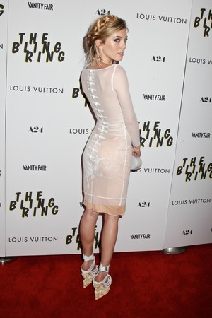 'The Bling Ring' film premiere, New York, America, Emilio Pucci sheer chiffon dress