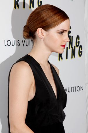 Emma Watson, bun, The Bling Ring premiere, New York, America