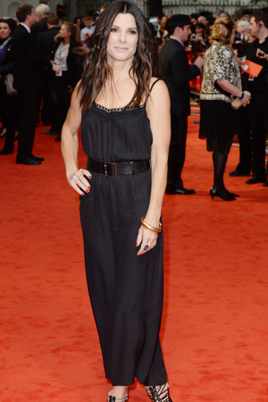 Sandra Bullock, Victoria Beckham design, The Heat premiere, Curzon Mayfair