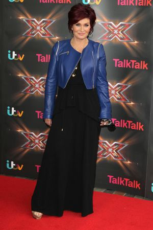 Sharon Osbourne, X Factor, Birmingham, cobalt blue leather jacket