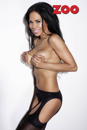 Charley Uchea posing for Zoo Magazine