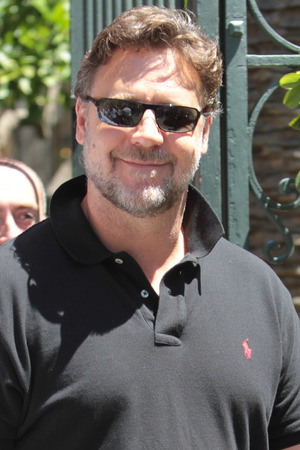 Russell Crowe in Italy for Man of Steel promotion.