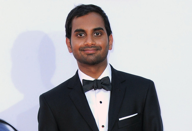 Aziz Ansari arrives at the 64th Primetime Emmy Awards at the Nokia Theatre on Sunday, Sept. 23, 2012
