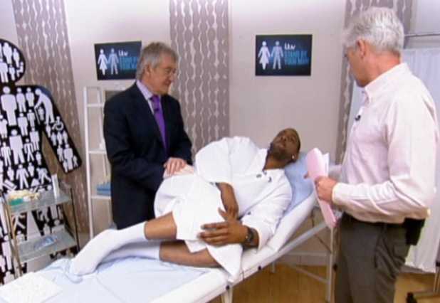Richard Blackwood has prostate exam live on 'This Morning'