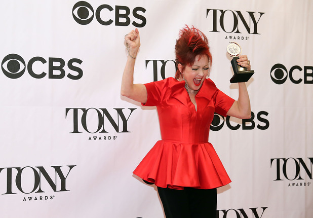 Cyndi Lauper with her Tony Award for 'Kinky Boots' ~~ June 9, 2013