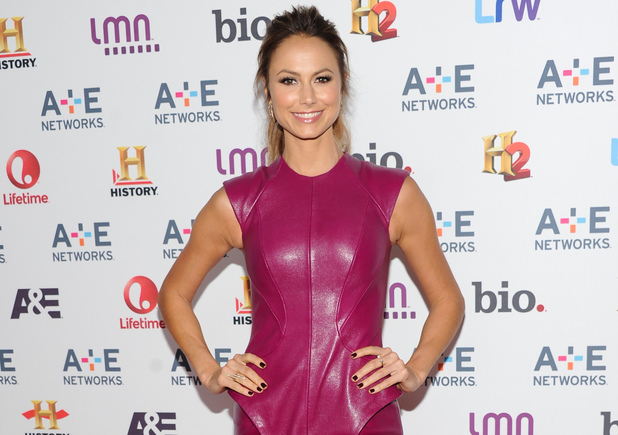 "Stacy Keibler from the show ""Supermarket Superstar"" attends the A+E Networks 2013 Upfront on Wednesday, May 8, 2013 in New York."