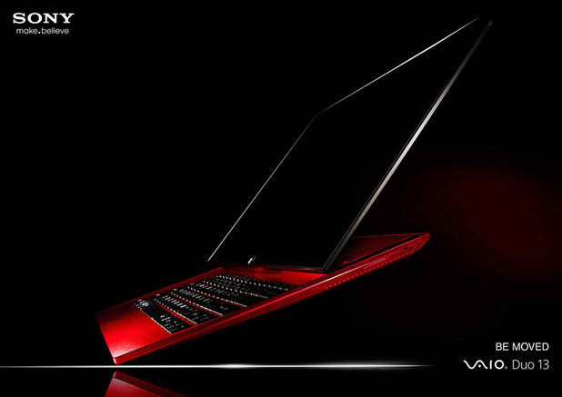 Sony's Vaio Duo 13 laptop in red