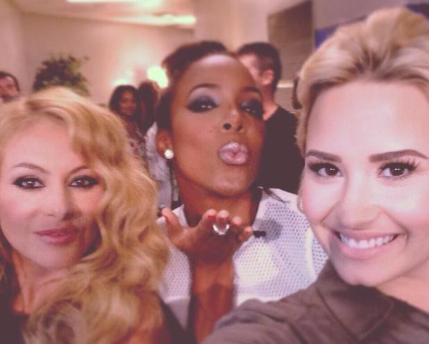 Paulina Rubio, Kelly Rowland and Demi Lovato at X Factor USA auditions