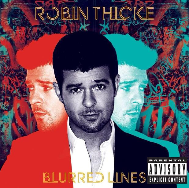 Robin Thicke 'Blurred Lines' album artwork.