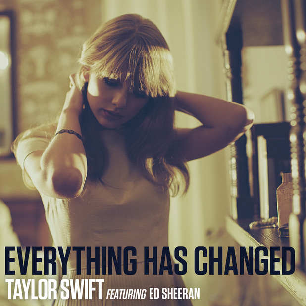 Taylor Swift, Ed Sheeran Everything Has Changed artwork