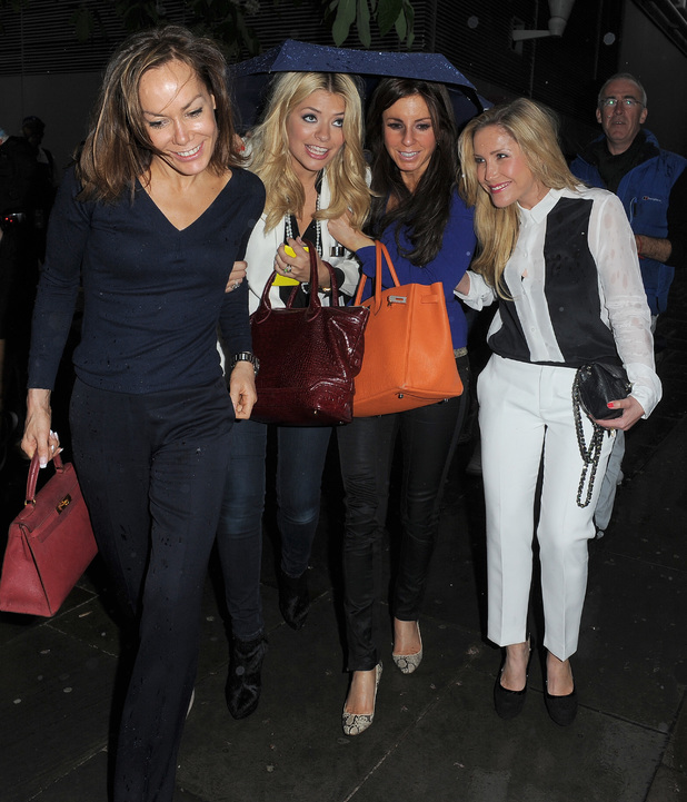 Tara Palmer-Tomkinson,Holly Willoughby and Heidi Range